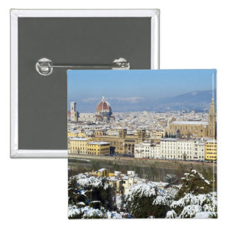 Landscape of Florence from Piazzale 15 Cm Square Badge