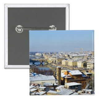 Landscape of Florence from Piazzale 2 15 Cm Square Badge