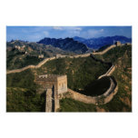 Landscape of Great Wall, Jinshanling, China Posters