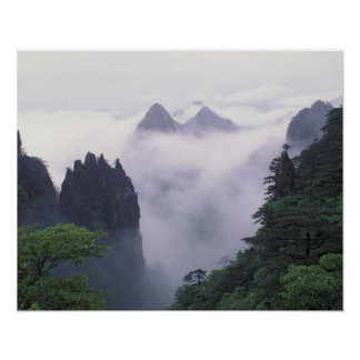Landscape of Mt. Huangshan (Yellow Mountain) in Poster