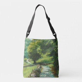 Landscape of nature. Navarre Crossbody Bag
