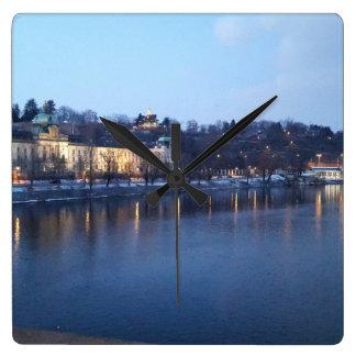 Landscape of Újezdv in Early Evening Clock