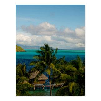 Landscape off will bora will bora postcard