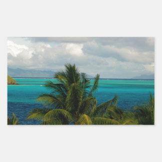 Landscape off will bora will bora rectangular sticker