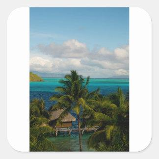 Landscape off will bora will bora square sticker