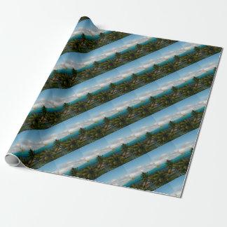 Landscape off will bora will bora wrapping paper
