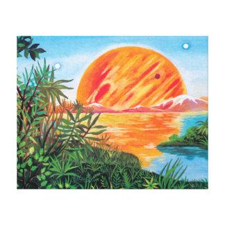 Landscape on Europa Canvas Print