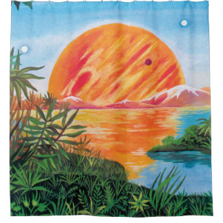 Landscape on Europa Shower Curtain