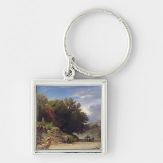 Landscape on the Outskirts of Rome, 1853 Key Chain