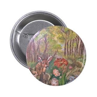 landscape paint painting hand art nature 6 cm round badge