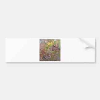 landscape paint painting hand art nature bumper sticker