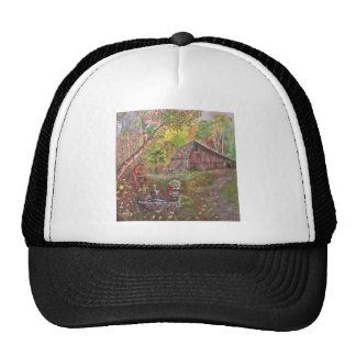 landscape paint painting hand art nature cap