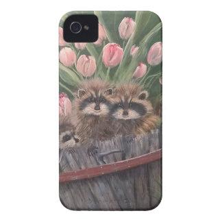 landscape paint painting hand art nature Racoons Case-Mate iPhone 4 Case