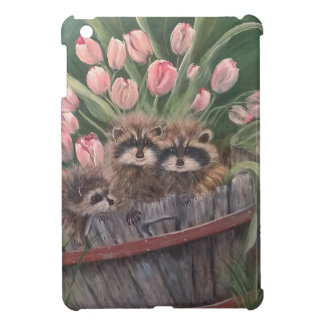 landscape paint painting hand art nature Racoons iPad Mini Cases