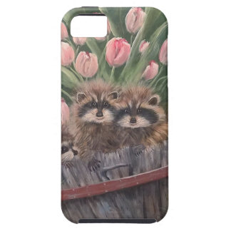 landscape paint painting hand art nature Racoons iPhone 5 Cover