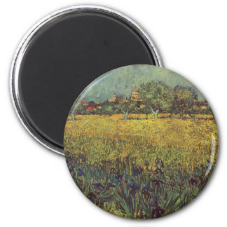 Landscape painting by Vincent Van Gogh Refrigerator Magnets