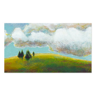 Landscape painting contemporary impressionism art business card template