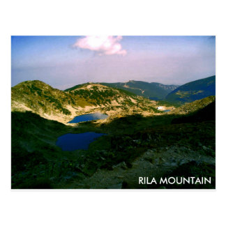 Landscape Rila mountain Postcard