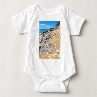 Landscape rocky coast Kefalonia Greece Baby Bodysuit