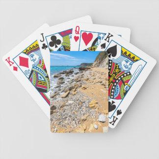 Landscape rocky coast Kefalonia Greece Bicycle Playing Cards