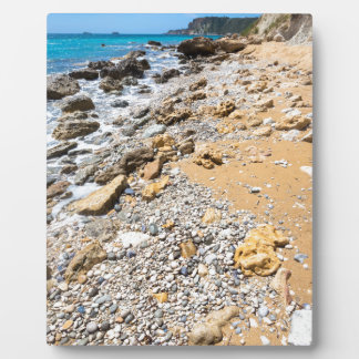 Landscape rocky coast Kefalonia Greece Plaque