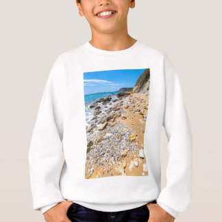 Landscape rocky coast Kefalonia Greece Sweatshirt