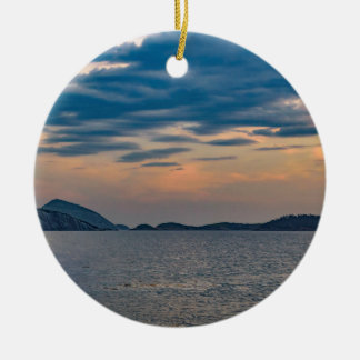 Landscape Scene from Ipanema Beach Rio de Janeiro Ceramic Ornament