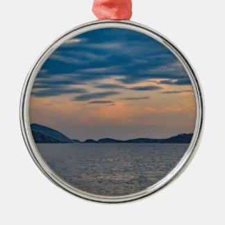 Landscape Scene from Ipanema Beach Rio de Janeiro Metal Ornament