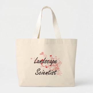 Landscape Scientist Artistic Job Design with Heart Jumbo Tote Bag
