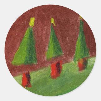 Landscape Seasons Greetings Sticker