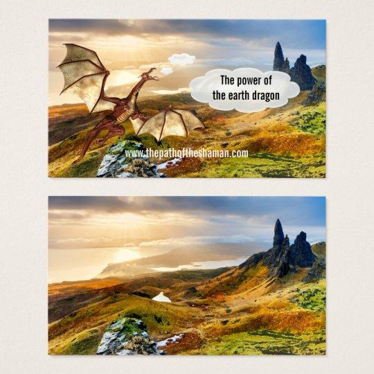 Landscape Shaman Earth Dragon Business Card