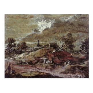 Landscape: Storm Effect, 18th century Postcard