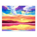 Landscape Sunset Lake Scene - Multi