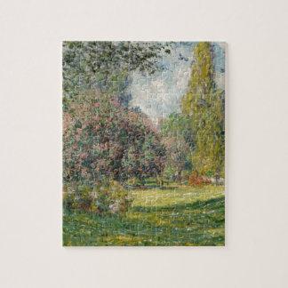 Landscape- The Parc Monceau - Claude Monet Jigsaw Puzzle