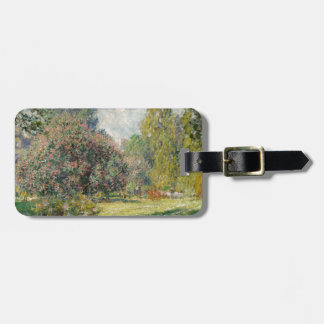 Landscape- The Parc Monceau - Claude Monet Luggage Tag