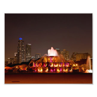 Landscape View of Buckingham Fountain Photo Print