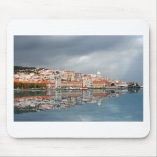 Landscape view of buildings in Lisbon, Portugal Mouse Pad
