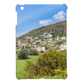 Landscape village with houses in Greek valley iPad Mini Covers