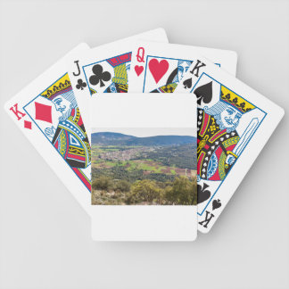 Landscape village with houses in valley of Greece Bicycle Playing Cards