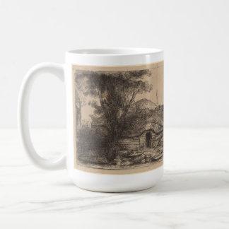 Landscape w/ a Cottage & a Large Tree (Rembrandt) Coffee Mug