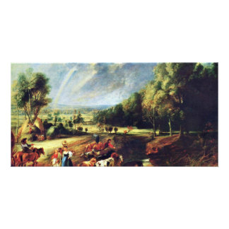 Landscape With A Rainbow By Rubens Peter Paul Photo Cards