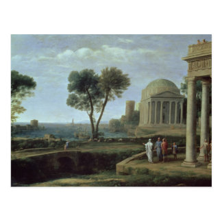 Landscape with Aeneas at Delos, 1672 Postcard