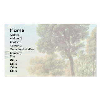 Landscape With Apollo And Mercury Business Card Template