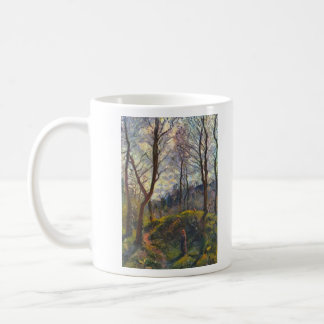 Landscape with big trees by Camille Pissarro Coffee Mug
