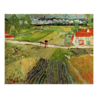 Landscape with Carriage and Train - van Gogh Posters