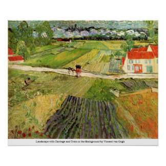 Landscape with Carriage and Train - van Gogh Print