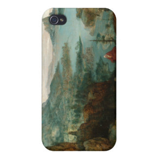 Landscape with Flight into Egypt - Pieter Bruegel iPhone 4 Case