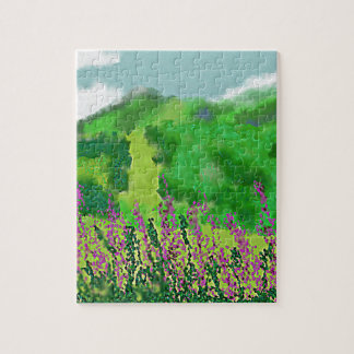 Landscape with Flowers Art Jigsaw Puzzle