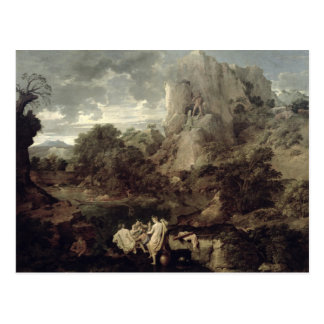 Landscape with Hercules and Cacus, c.1656 Postcard