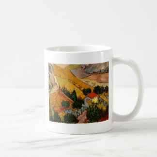 Landscape with House & Ploughman, Vincent Van Gogh Coffee Mug